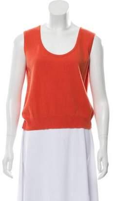 Chanel Cashmere Sleeveless Top Orange Cashmere Sleeveless Top