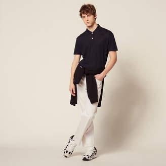 Sandro Short-Sleeved Linen Polo Shirt