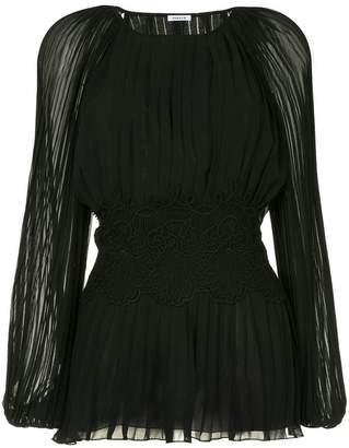 P.A.R.O.S.H. pleated long-sleeve blouse