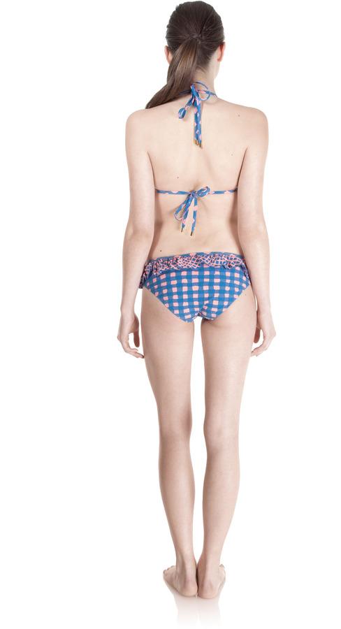 Marc by Marc Jacobs Molly Check Ruffle Bikini Bottom