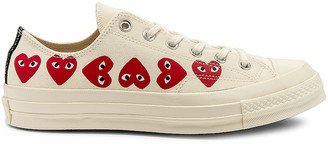 Comme des Garcons Emblem Low Top Sneaker in Off White | FWRD