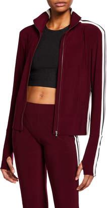 Norma Kamali Thumb-Cuff Side-Stripe Jacket