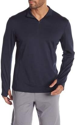 Zella Z By Active Zip Thumbhole Sleeve Shirt