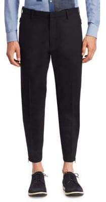 Emporio Armani Wool Side-Zip Pants