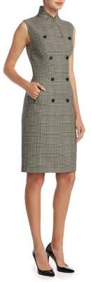 Ralph Lauren Collection Gilmore Glen Plaid Double-Breasted Dress