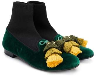 Florens TEEN tassel detail ankle boots