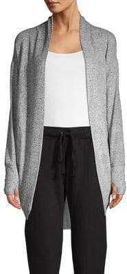 Andrew Marc Performance Open-Front Cocoon Cardigan