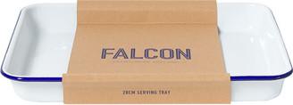 Falcon Oven Dish - White with Blue Rim