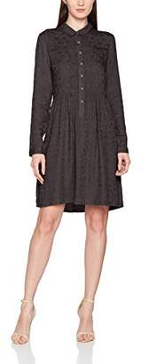 PepaLoves Women's Silvana Charcoal Casual Dress,(Manufacturer Size:Large)