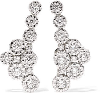 YEPREM - 18-karat White Gold Diamond Clip Earrings