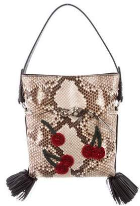 Altuzarra Ghianda Small Bucket Python Crossbody Bag