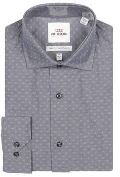 Ben Sherman Slim-Fit Printed Wrinkle-Free Dress Shirt