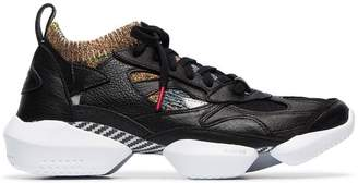 Reebok black, white and multicoloured 3D opus sneakers