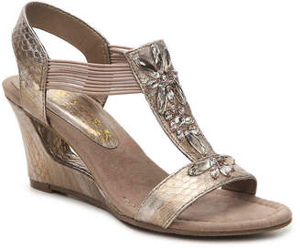New York Transit News Worthy Wedge Sandal - Women's