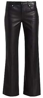 Alexander Wang Women's Leather Bootcut Flare Pants