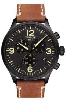 Tissot T-Sport Chronograph Leather Strap Watch