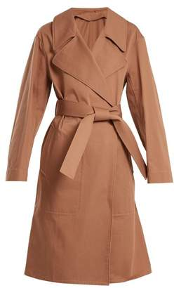 Lemaire Oversized Cotton Twill Trench Coat - Womens - Tan