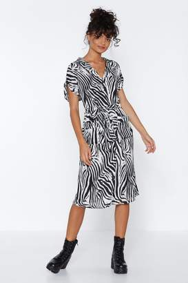 Nasty Gal Guess What We Herd Zebra Dress