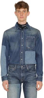 Calvin Klein Jeans Patchwork Cotton Denim Shirt