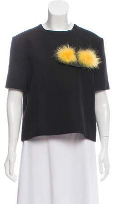 Fendi Monster Short Sleeve Top