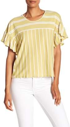 Lucky Brand Ruffle Stripe Top