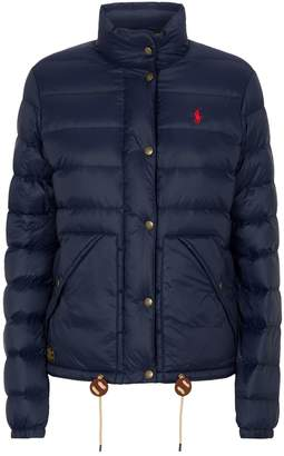 Ralph Lauren Logo Quilted Down Jacket