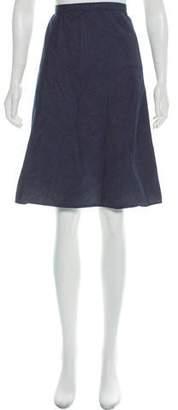 Theory Denim Knee-Length Skirt