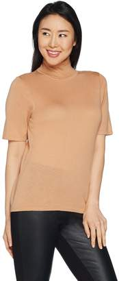 Joan Rivers Classics Collection Joan Rivers Lightweight Turtleneck Sweater with Elbow Sleeves
