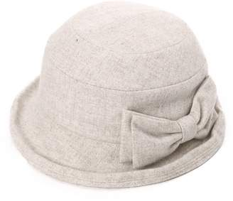 Siggi Womens Black Vintage Wool Felt Cloche Bucket Hat Winter Fall Packable