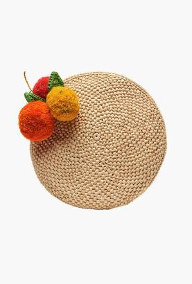 Mar y Sol Natural Louisa Crocheted Fruit Clutch $129 thestylecure.com