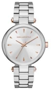 Aurelie Stainless Steel Three-Hand Bracelet Watch