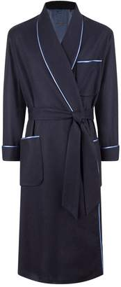 Daniel Hanson Piped Cashmere Robe