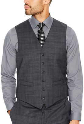 STAFFORD Stafford Plaid Classic Fit Suit Vest