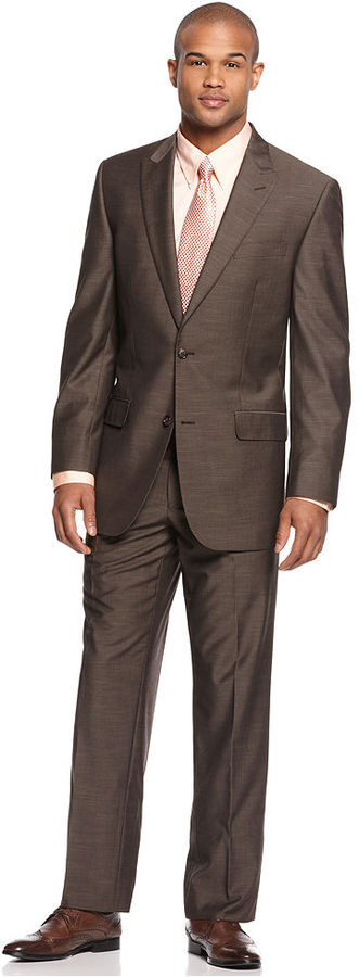 Sean John Suit, Taupe Sharkskin