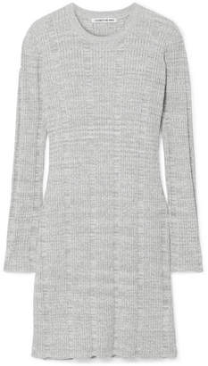 Elizabeth and James Kellen Ribbed Cotton-blend Tunic - Gray