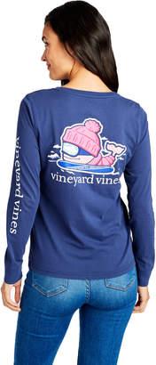 Vineyard Vines Long-Sleeve Skiing Whale Pocket Tee