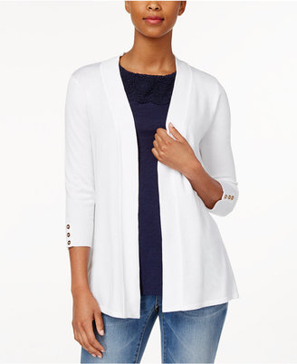 Charter Club Solid Open-Front Cardigan, Only at Macy's $69.50 thestylecure.com