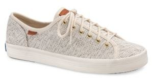 Textured Lace-Up Sneakers $58 thestylecure.com