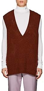 Calvin Klein Men's Wool Oversized Sweatervest - Brown