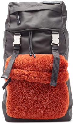 Marni Backpack with Shearling