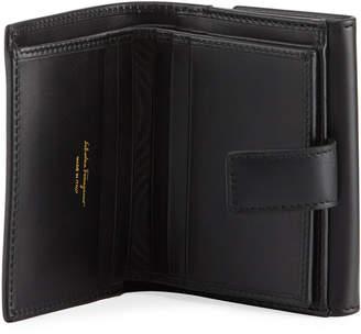 Salvatore Ferragamo Gancini Calf Flap Wallet