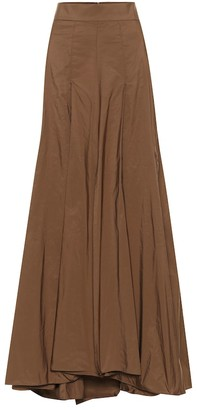 Brunello Cucinelli Silk-blend maxi skirt