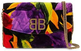 Balenciaga Bb Chain Wallet Velvet Bag