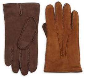 Saks Fifth Avenue Two-Tone Leather Gloves