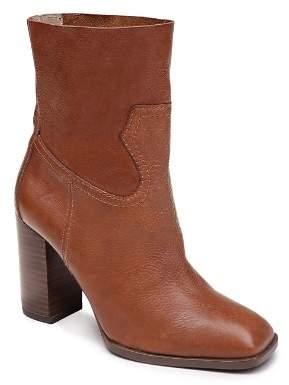 Splendid Women's Nero Leather Block Heel Booties
