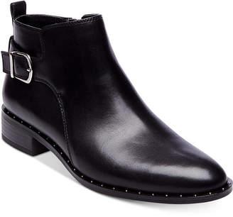 6f70018b5b8 Black Leather Studded Boots Steve Madden - ShopStyle