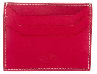Tod's Leather Logo Card Holder