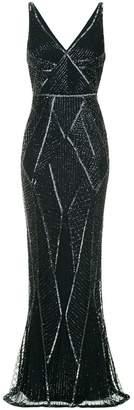 Rachel Gilbert beaded long dress