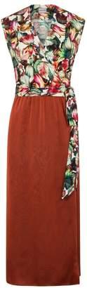 CoCo VeVe - Summer Boho Wrap Dress Copper