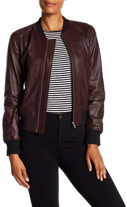 Theory Daryette Lamb Leather Jacket
